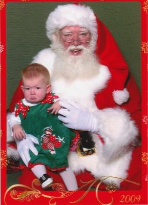 courtney with santa